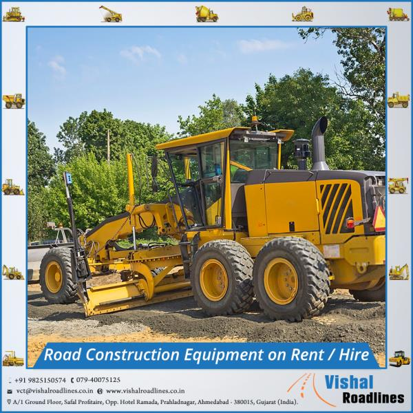 Road Construction Equipment on Rent (hire) in Ahmedabad, Gujarat, India