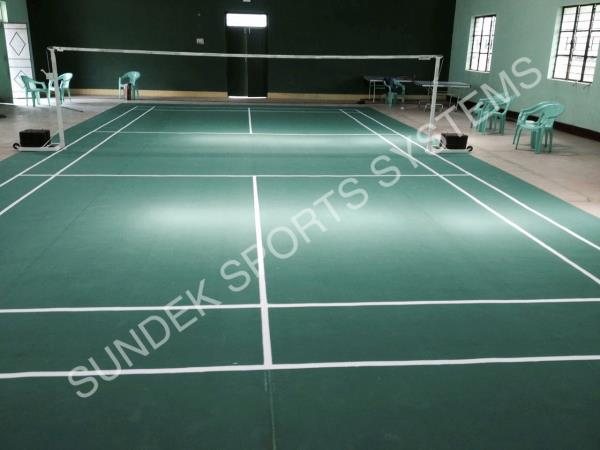 Synthetic Flooring Badminton Court