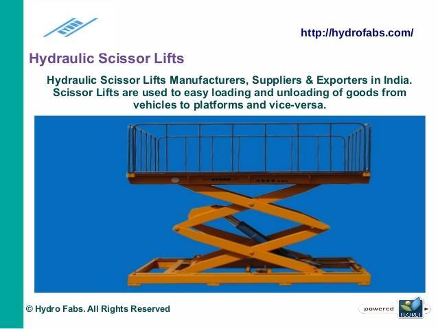 Hydraulic Scissors Lift