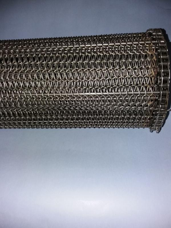 ss wire mesh belts with both side ss chain