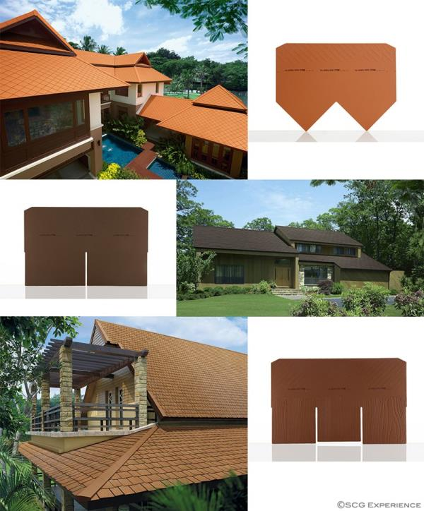 Ayara Collection uniquely offers reliability together with the sense of style and refinement :   - Smooth-surface fiber cement roofs  - Durable and leak-proof, withstanding up to point load of 180kg.  - Reverse flow prevention  - Light weight, reducing building structure cost  - Long lasting color from Z-TRON sheild   USE PER UNIT: 6.25 pcs/sq.m.  MATERIAL: Fibercement   KEY FEATURES - Ayara is made from Portland Cement combined with synthetic fiber and cellulose fiber , all interlocked with the help of modern technical skill. The resulting tiles are thus tough, compact and impenetrable  - Ayara tile admit no water , thus eliminating the problem of leaks.  - Because Ayara tile are installed by Ayara ridge system and without grout , messy cement stains and residues are avoided.  - Ayara tiles are light enough to not require extra structural support in the roof.   Width: 80 cm Length: 51 cm Height: 0.6 cm Weight: 4.4 kg Recommended Slope: 25-45  Purlin spacing: 20