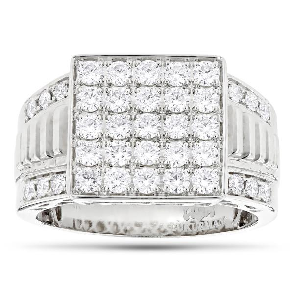#18KT #WHITE #GOLD #REAL #NATURAL #ROUND #CUT #DIAMOND #BEAUTIFUL #MEN #RING