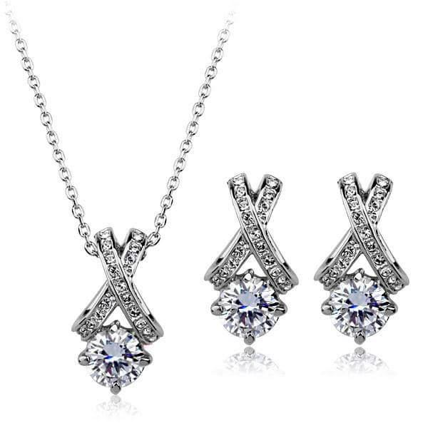 #REAL #NATURAL #ROUND #CUT #DIAMOND #18KT #WHITE #GOLD #PENDANT #SET #WITHOUT #CHAIN