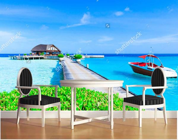 Maldives Beach Customized Wall Tiles