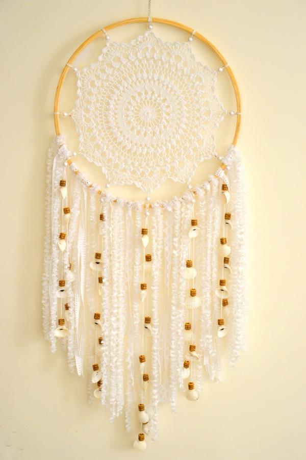 White Crochet Dreamcatcher