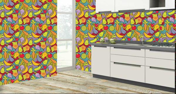 Fruits and Vegetables Kitchen Tiles