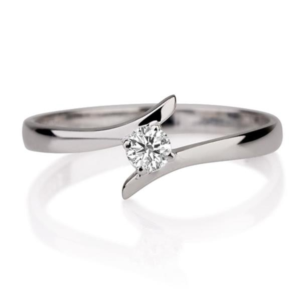 18KT WHITE GOLD REAL NATURAL ROUND CUT NOT TREATED DIAMOND SOLITIRE RING