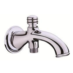 Bath Tub Spout with Button Attachment for Telephone Shower