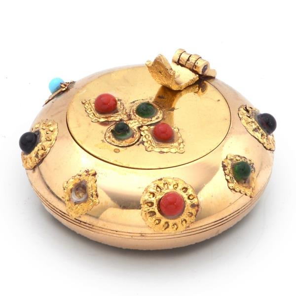 Pure Brass Gemstone Ash Tray Handicraft Gift 172