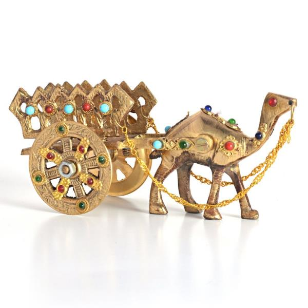 Gemstone Studded Pure Brass Camel Handicraft 184