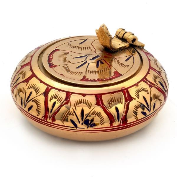 Pure Brass Meenakari Work Ash Tray Handicraft 203