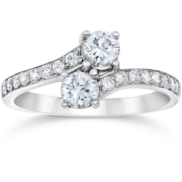 14KT WHITE GOLD REAL NATURAL ROUND CUT NOT TREATED DIAMOND BEAUTIFUL SOLITAIRE RING