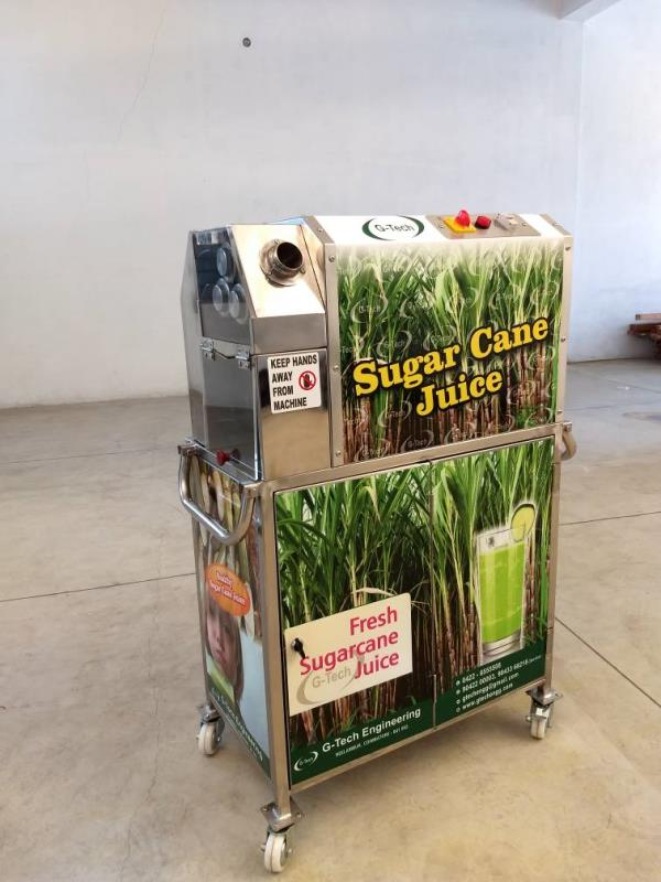 Sugarcane Juicer ( Stand with Bin Model)