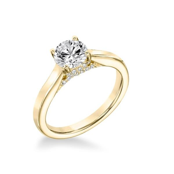14KT YELLOW GOLD REAL NATURAL BRILLIANT CUT NOT ENHANCED DIAMOND BEAUTIFUL SOLITAIRE RING