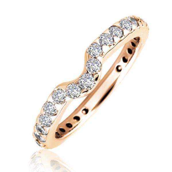 REAL NATURAL ROUND CUT NOT TREATED DIAMOND 18Kt ROSE GOLD BEAUTIFUL RING