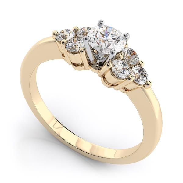 14KT YELLOW GOLD REAL NATURAL ROUND CUT NOT TREATED DIAMOND BEAUTIFUL SOLITAIRE RING