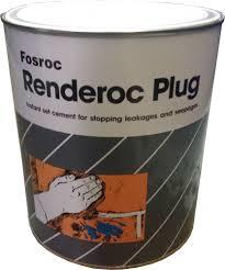 Renderoc Plug (Rapid setting cement-based, water-stopping mortars )