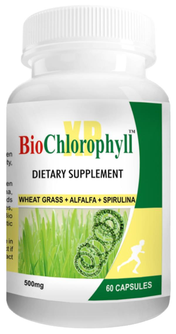 Super Greens supplement capsules - Bio Chlorophyll XP