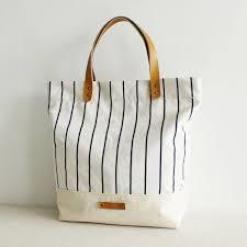 COTTON PRINTED TOTE BAG WITH PU HANDLES