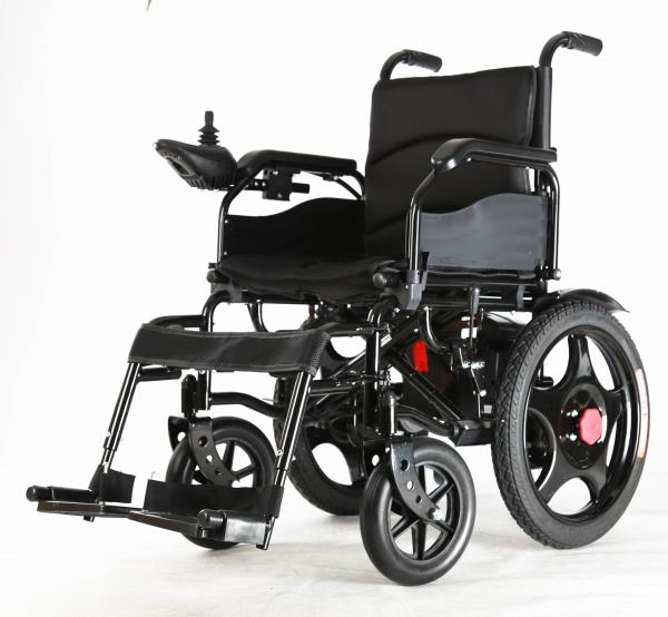 Phoenix electric wheelchair Battery operated Foldable design Range- 18 km per charge Top speed 6 kmph 1 Year Warranty on all parts