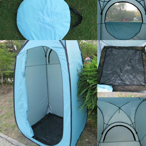 Amaze  Folding C&ing Outdoor Portable Light weight Quick set up Dress Changing Room Portable Toilet Tent Room Bath room Toilet Tent- SEA BLUE : portable toilet tents - memphite.com