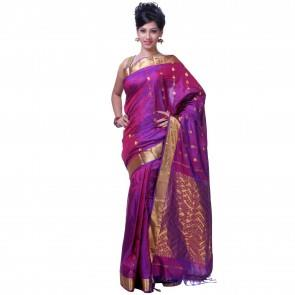 Purple in Traditional Design Sarees: