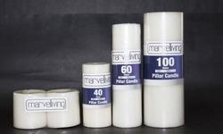 Unscented White Pillar Candles