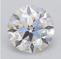 GIA CERTIFIED REAL NATURAL ROUND CUT NOT TREATED IF CLARITY 0.50 CARAT SIZE DIAMOND