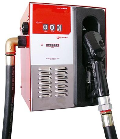 Liquids: Diesel COMPACT 50M-12 V · Mechanical compact supply kit	28110-CF00000Mechanical compact supply kit suitable for the diesel transfer to own consumption vehicles.  Composed of: CHASSIS:made of steelinterior and exterior treatment to protect against corrosionhigh epoxid brilliant paintweatherproofPUMP:IRON-50 12 VDC self-suction with self-adjusting blades · *Ask for 24 V modelMETER:MG-80 mechanical meterNOZZLE:PA-60 automaticHOSE:4 m Ø19 mm delivery diesel hose double layer, with adapters in both endsSize and weight (approx.):Dim.: 380x345x360 mm (length x width x height)Weight: 18 kgSupplier in - Mumbai, Bangalore, Vapi, Surat, Rajkot, Bihar, Kanpur, Kerala, Jaipur-Rajasthan, Chennai, Pune, Nagpur, Nashik, Chandigarh, Delhi, Amritsar, Jalandhar and Kolkatta