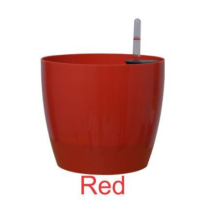 Self watering planter 9'' Red color (PACK OF 1) 23 cm x 20 cm - Minerva Naturals
