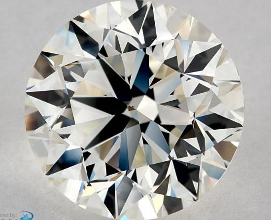 IGI CERTIFIED REAL NATURAL ROUND CUT NOT TREATED VS2 CLARITY 5.02 CARAT SIZE J COLOR DIAMOND