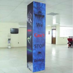 Show Room Pillar GraphicsAs an affluent name of this domain, we hold expertise in presenting high quality Show Room Pillar Graphics. These graphics are manufactured utilizing quality paper materials and OEM certified components. The strong tensile strength and high durability allow the graphics bear the long distance. Also, the offered graphics have the resistant to acid and alkali substances. Under the firm observation of deft professionals, this graphics for hanging frame of developed made-up by adhering to OEM specifications.  Features:Adjustable gripStay firm in heavy loadsLight weight yet rugged designApplications:BusinessFactoriesIndustries