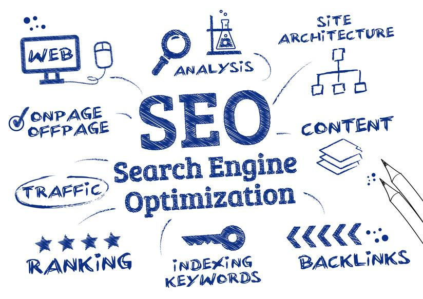 The SEO experts work