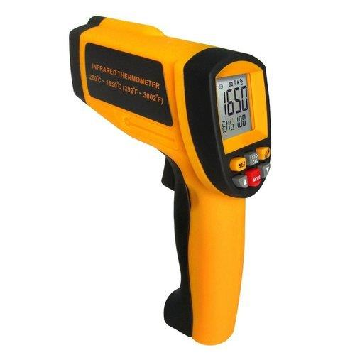 INFRARED THERMOMETER 200~1650 CTEMPERATURERANGE : 200~1650°C (392~3002°F)ACCURACY : ±2%OR±2°CDISTANCE SPOT RATIO : 50:1EMISSIVITY : 0.10~1.00 ADJUSTABLERESOLUTION : 0.1°C OR 0.1°FRESPONSE TIME WAVELENGH : 500MS (8-14)UMREPEATABILITY : ±1%OR±1°C(1.8°F)AVG/DIF TEMPERATURE MEASUREMENT : YESMAX/MIN TEMPERATURE MEASUREMENT : YESHIGH/LOW TEMPERATURE ALARM SETUP : YES12 DATA STORE/RECALL FUNCTION : YES°C/°F SELECTION : YESDATA HOLD FUNCTION : YESLASER TARGET POINTER SELECTION : YESBACKLIGHT DISPLAY SELECTION : YESAUTO POWER SHUT OFF : YESLOW BATTERY INDICATION :YESItem Code: GI1650Minimum Order Quantity: 1 Piece