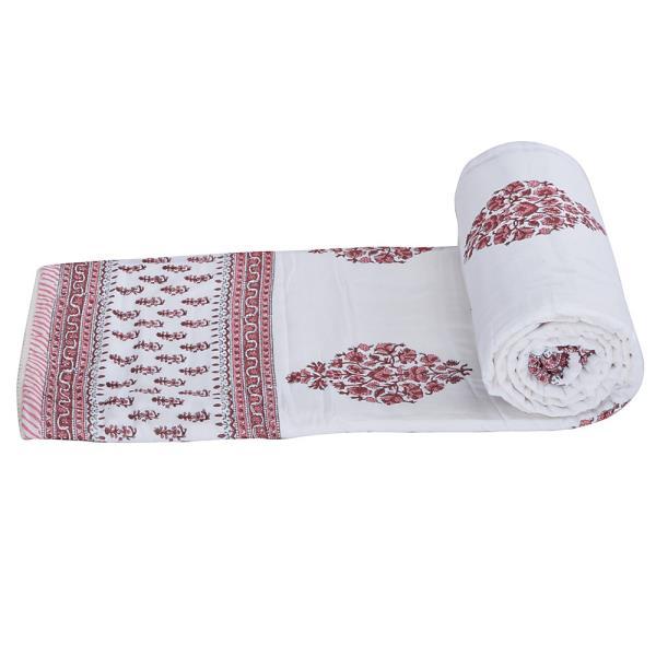 Ethnic Jaipuri Print Cotton Single Bed Comforter 202