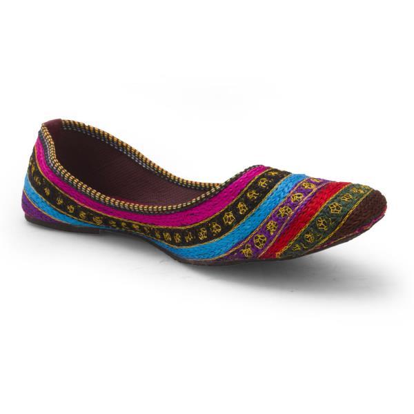 Women Resham Zari Work Colorful Ballerina Sandals 305