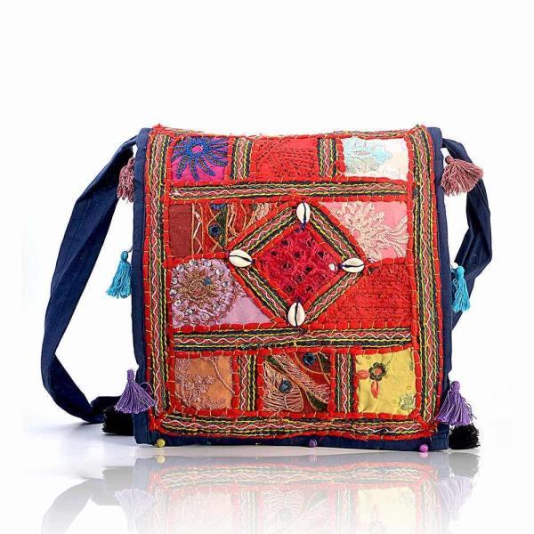 Rajasthani Traditional Mirror Work Art Hand Bag 113