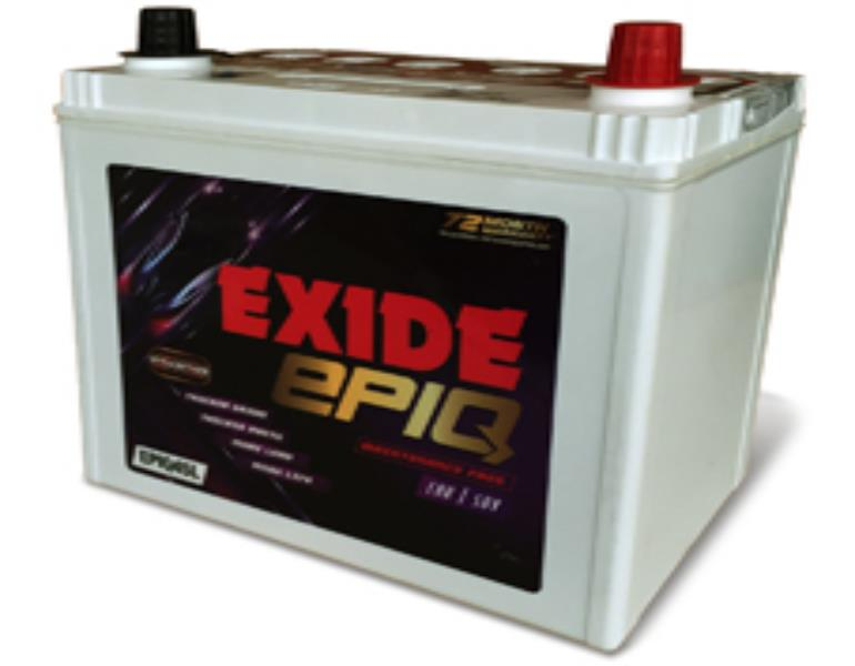 EXIDE EPIQ- Four Wheeler Batteries - EPIQ75D23LBH