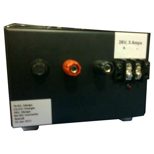 Features:Cold start on full loadInbuilt isolationBuilt-in Dynamic bypassOther Details:The features of these products are as follows:Cold start on full loadBuilt-in Dynamic bypassInbuilt isolationGenerator compatibilityWide input voltage rangeTrue on-line double conversionExtend Autonomy up to 4 hours with external chargerEasy to handleFlawless performanceApplications:Portable Power Back-up SolutionsEmergency LightsMedical equipmentIndustrial processesSmall & Medium computer roomsLAN & Wan serversHubs Routers BridgesOffice Telecommunications systemsSpecifications:Item Code: 26 v-3 AmpsCc-Cv ChargerDc to Dc ConverterLI Ion Battery BankDimensions: 70 mm x 150 mm x 180 mmWeight: 2 KgDischarge (max): 3 Amps continuousTemperature: 20 deg c to 60deg cAdditional Information:Item Code: 26V-3Amps