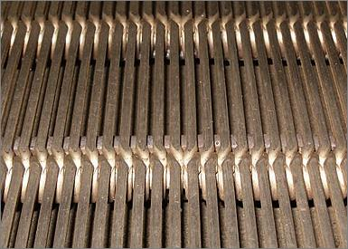 Metals perforated in filtration application........Wedge wire screen............
