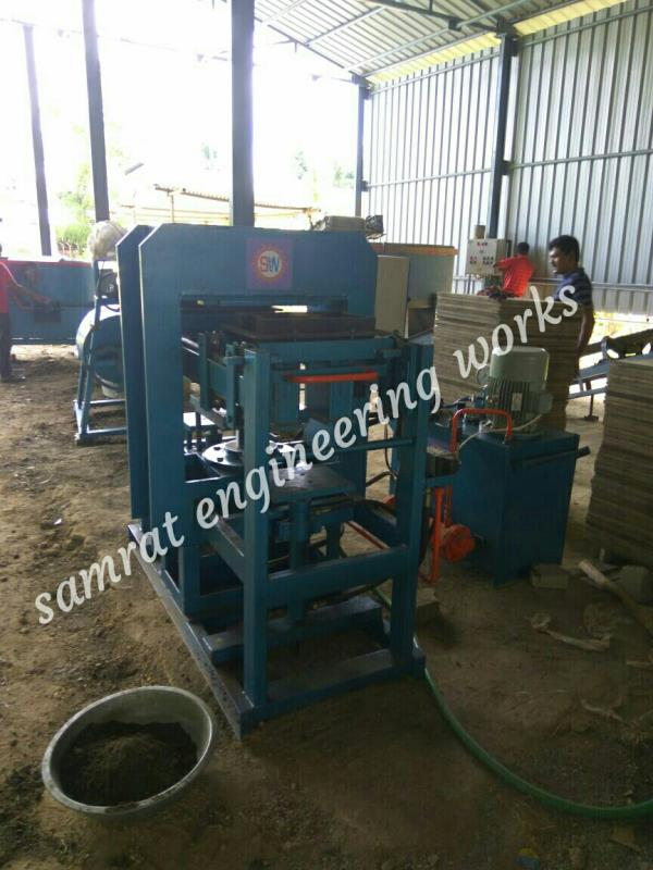 Manual High Pressure With Paver Bricks Machine