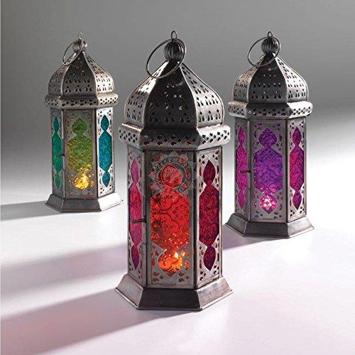 Collectible India Metal Moroccan Tealight Candle Holder Hanging Lighting Lantern & Lamp - 1 PCS