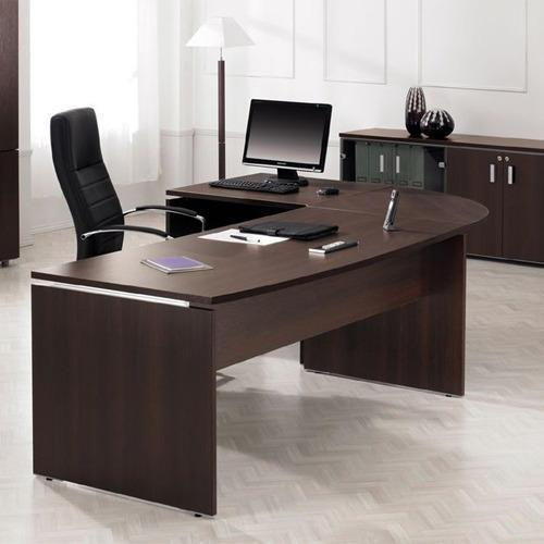 Executive Office Table with Drawers & Cabinets