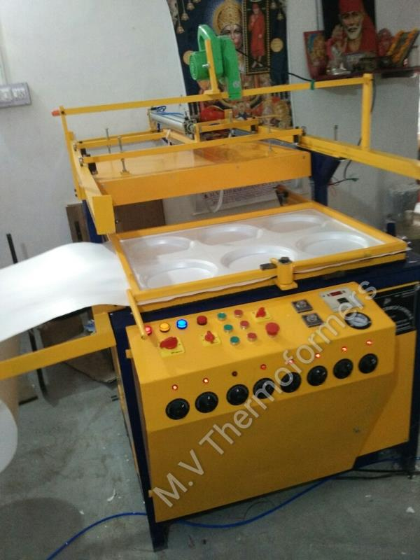 Semi automatic thermocol dona plate thali forming machine