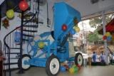 10/7 CFT CONCRETE MIXER WITH HYDRAULIC HOPEER