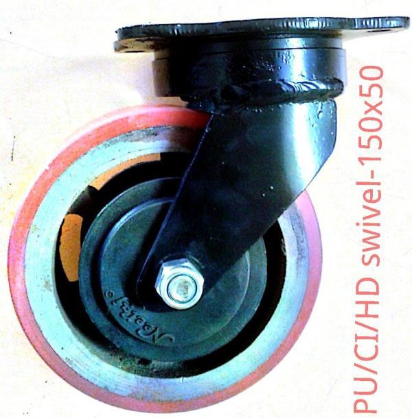 150 x 50 PU/CI/BB - HD Swivel castors