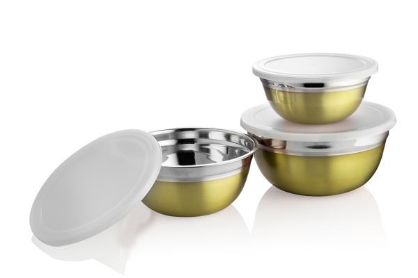 Vagmi German Stainless Steel bowl set of 3 pcs