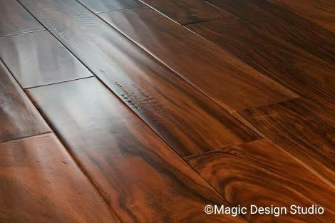 Engineering wood flooring come in different patterns, size, colour