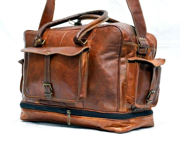Bag Leather Duffel Travel