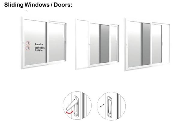 uPVC sliding windows are best suited for your home, apartments, villas and offices now available in a wide range of sizes at affordable price.Easier and faster to operate, they are great for air circulation and panoramic views. Pricing per Sft is mentioned below: